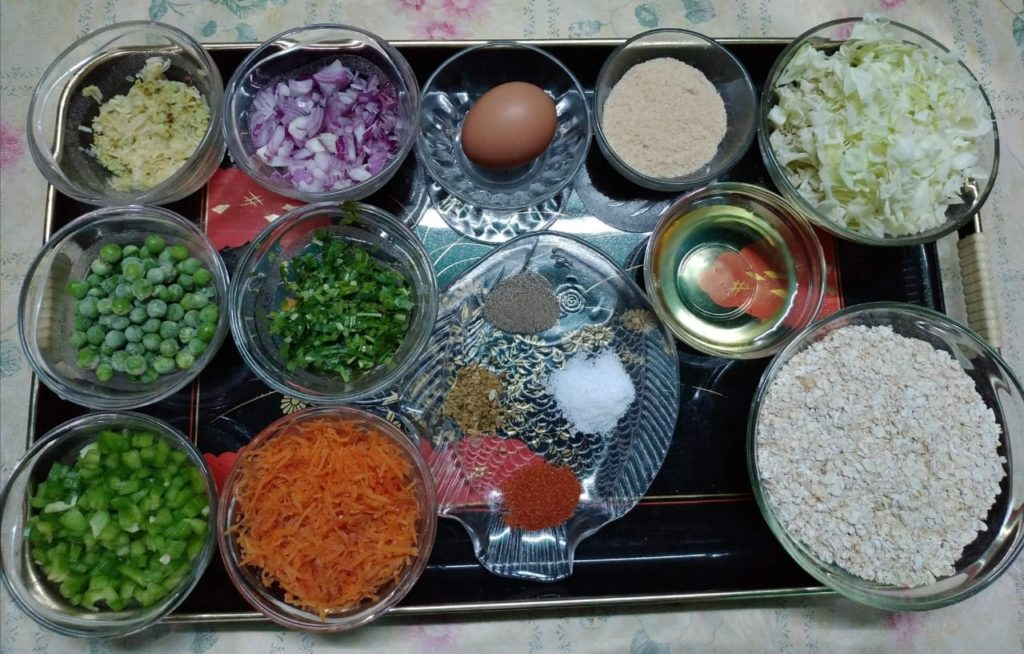 ingredients-oat-and-vegetable-cutlet-writeweavers